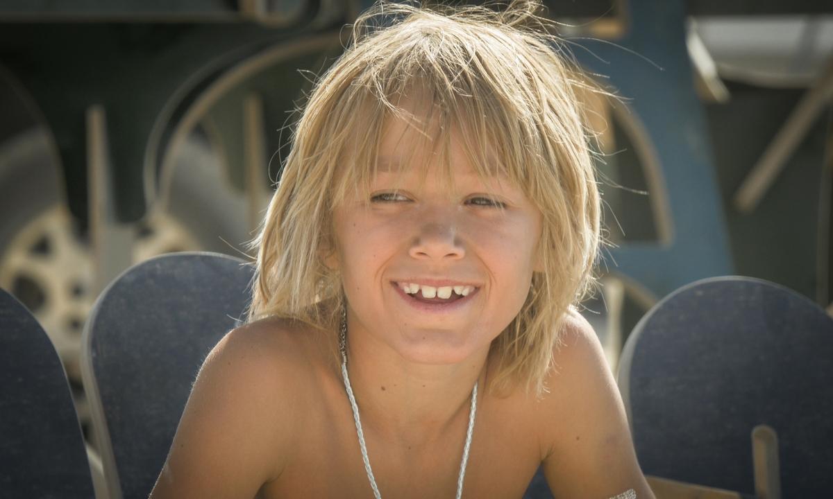 Burning Man kid smile